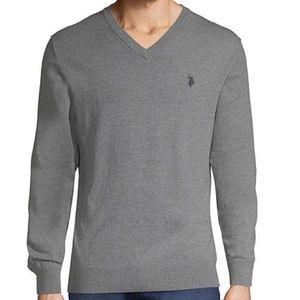 US Polo Assn - V Neck Long Sleeve Pullover Sweater